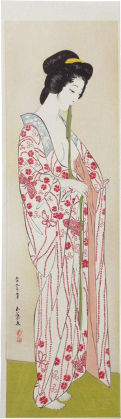 Goyo Hashiguchi, 'Woman in Long Under Garment', ca. 1920