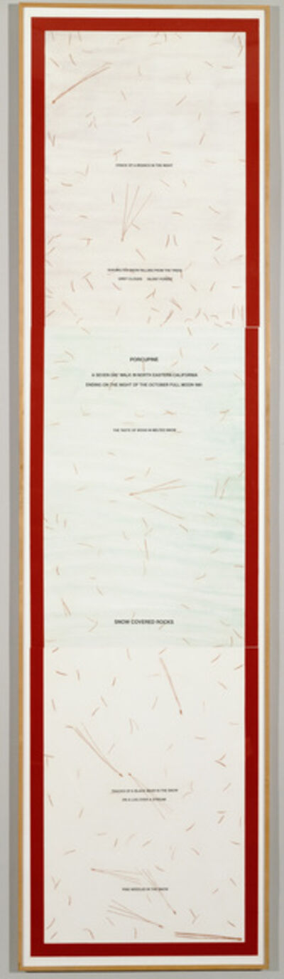 Hamish Fulton, 'Porcupine', 1982