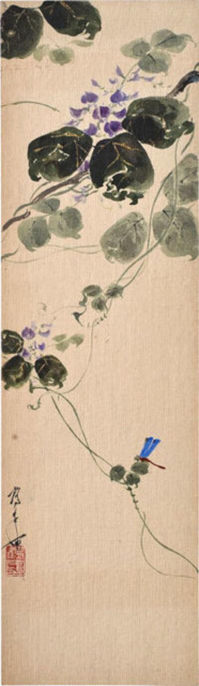 Kakunen Tsuruoka, 'Dragonfly and Blossoming Wisteria', ca. 1910-20s