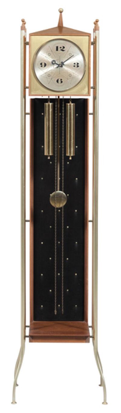 George Nelson, 'Brass and Walnut Tall Case Clock, Model no. 2256', Circa 1960