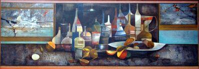Karl Plattner, 'COMPOSIÇÃO COM GARRAFAS E FRUTAS', 1957-1958