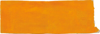 Suzan Frecon, 'Horizontally Extended Orange (patched)', 2011