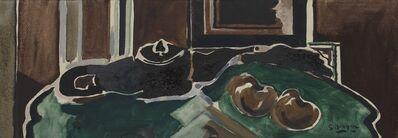 Georges Braque, 'Nature morte à la théière (fond vert)', 1957