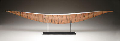 Julie Girardini, 'Copper Black Striped Boat'