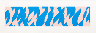Bridget Riley, 'Blue and Pink', 2001
