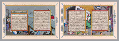 Sandow Birk, 'American Qur'an: Sura 43 A-B, diptych', 2013