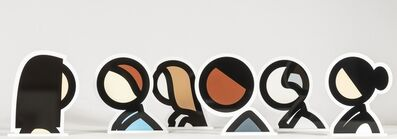Julian Opie, 'Head Series (the complete set of six)', 2016/2017