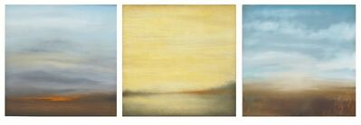 Carole Pierce, 'Water, Land, Fire-Triptych', 2014-2015