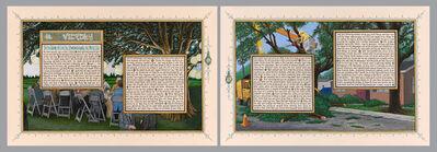 Sandow Birk, 'American Qur'an: Sura 48 A-B, diptych', 2013