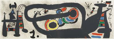 Joan Miró, 'Le Lézard aux Plumes d'Or (M828)', 1971