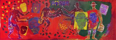 Isaiah Zagar, 'Four-Armed Isaiah Paints', ca. 1990