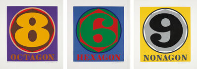 Robert Indiana, 'Hexagon; Octogon; and Nonagon, from Polygons', 1975