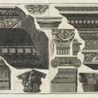 Giovanni Battista Piranesi, '[Various entablatures, capitals and ornamental fragments]', 1761
