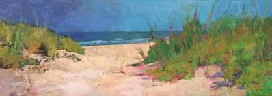 """Larry Horowitz, '""""Almost There"""" oil painting of a path to the beach through dunes, blue sky', 2019"""