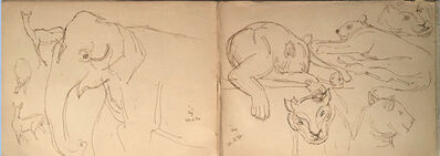 Indra Dugar, 'Rare animal drawing by Old Bengal Artist Indra Dugar', 1976
