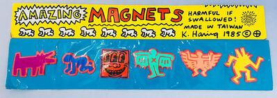 Keith Haring, 'Original Keith Haring Pop Shop magnets (unopened set of 6)', 1985