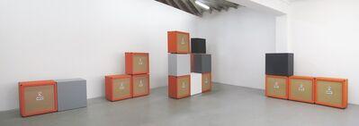 Kaz Oshiro, 'Orange Speaker Cabinets and Gray Scale Boxes', 2009