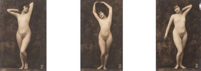 Unknown Artist, 'Posed Nude Tripych (3 works)'