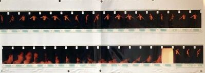 Skip Arnold, 'Large Vintage Color Photograph Male Dancing Figure Photo Strip Print Signed', 1990-1999