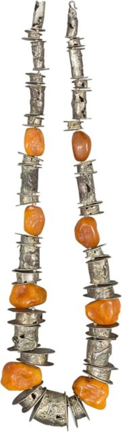 "Imogene ""Tex"" Gieling, 'Silver and Amber Necklace Silver'"