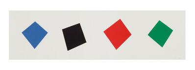 Ellsworth Kelly, 'Blue/Black/Red/Green', 2001