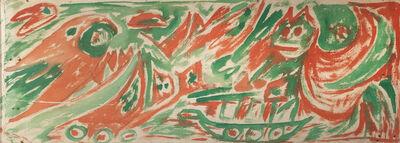 Carl-Henning Pedersen, 'Forest with Animals', 1958