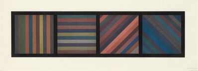 Sol LeWitt, 'BANDS OF LINES IN FOUR DIRECTIONS (HORIZONTAL PLATE) (KRAKOW 1993.02)', 1993