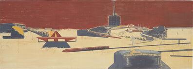 Neo Rauch, 'Landschaft mit Sendeturm', 1996