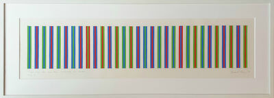 Bridget Riley, 'Bright Green, Blue and Red Surrounded One Another, Study 4', 1973