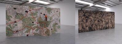 Stephan Balkenhol, 'Grosser Paravent - Menschenmassen und Landschaft', 2010