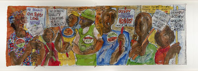 "Aminah Brenda Lynn Robinson, 'Chronicles from the Village Series: ""Stand! Protest! Occupy! in 2012""', 2010-2012"