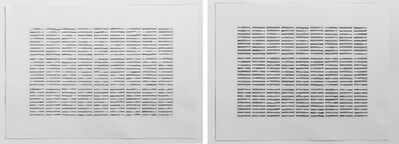 Hassan Sharif, 'Horizontal Lines - Part 1 Drawing No. 1 and Drawing No. 2', 2012