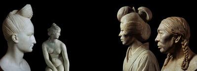 Ken Gonzales-Day, 'Untitled (Pierre-Jean David d'Angers, Bust of Ann Buchan Robinson, Museum of City of New York; Joseph Nollekensm Venus, The J. Paul Getty Museum, Los Angeles; Malvina Hoffman, Japanese Woman [337087], The Field Museum, Chicago; Malvina Hoffman, Eskimo Woman [337060])', 2009-2011