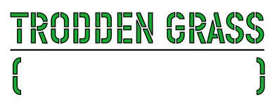 """Lawrence Weiner, '""""TRODDEN GRASS""""', 1991"""