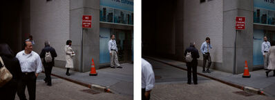 Paul Graham, 'Wall Street, 19th April 2010, 12.46.55 pm (diptych)', 2010