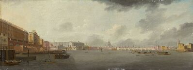 Daniel Turner (active 1782-1817), 'A View of the Thames Looking East with the Adelphi, Somerset House, and Saint Paul's Cathedral', ca. 1806