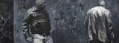 Johann Louw, 'Two Men Against Wall', 1995
