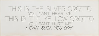 Bruce Nauman, 'Silver Grotto/Yellow Grotto ', 1975