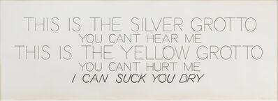 Bruce Nauman, 'Silver Grotto/Yellow Grotto ', 1975