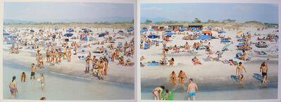 Massimo Vitali, 'Landscape with Figures Portfolio;  Rosignano Diptych, sheets #6 & 7', 2006