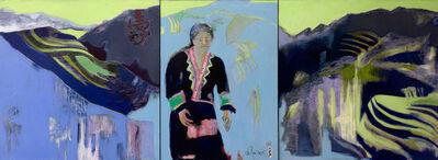 Renee DuRocher, 'Les Montagnes De Sapa (Blue Mountains of Sapa)'