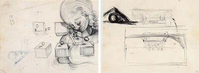 Salvador Dalí, 'Étude de tête de femme et étude pour le tableau : La Cène', ca. 1954