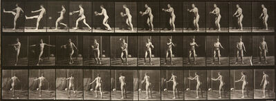Eadweard Muybridge, 'Animal Locomotion: Plate 301 (Nude Man Kicking Ball)', 1887