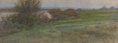 Pompeo Fabri, 'Landscape along the river'