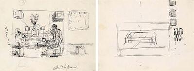 Salvador Dalí, 'Études pour les tableaux : La Cène et Galatée en formation', ca. 1954