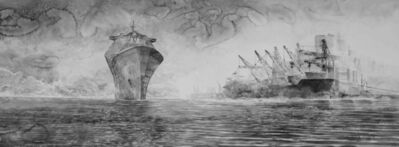Hans Op de Beeck, 'Sea of Tranquility (shipyard)', 2018