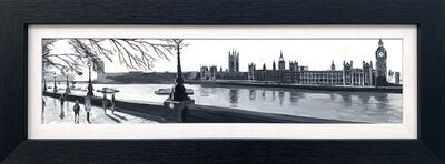 Angela Wakefield, 'Panoramic of Westminster from Victoria Embankment, London', 2017