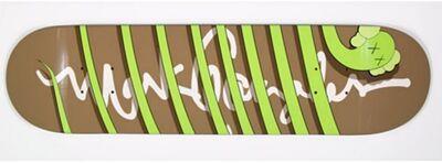 KAWS, 'Green Snake Skate Deck ', 2005