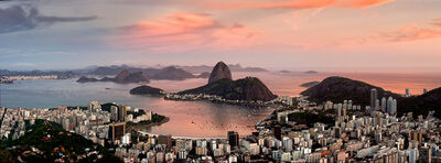 Andrew Prokos, 'Panoramic View of Botafogo at Dusk, Rio De Janeiro', 2016