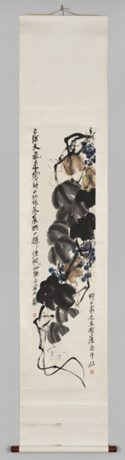 Qi Baishi, 'Grapes and Vine', ca. 1920